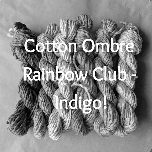 Cotton Ombre Rainbow Club - Indigo