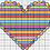 Thumbnail: Frilly Heart Cross Stitch Chart :: Printable