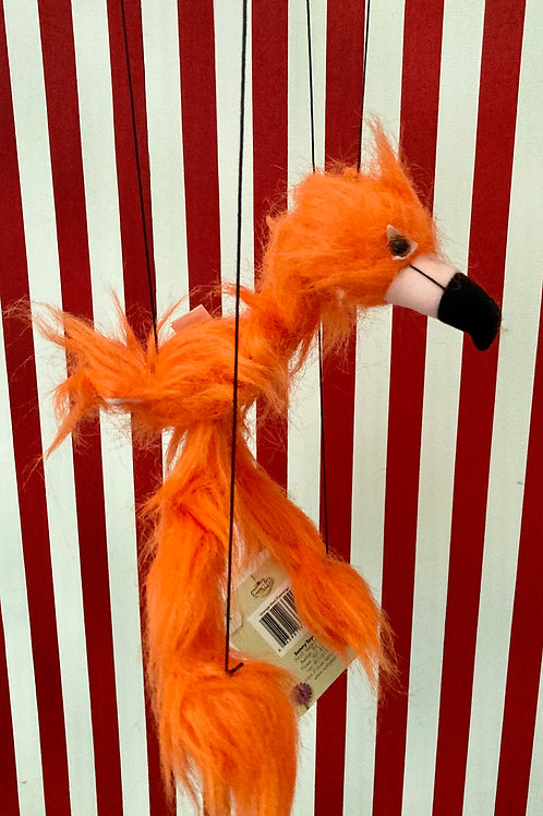 Orange Flamingo - Marionette Puppet (small) by Sonny Toys