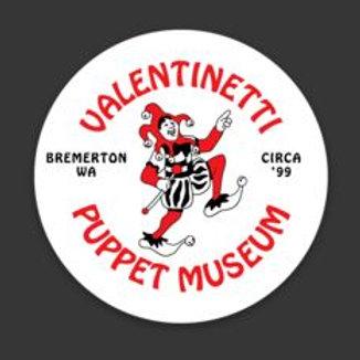 Valentinetti Puppet Museum Logo Sticker