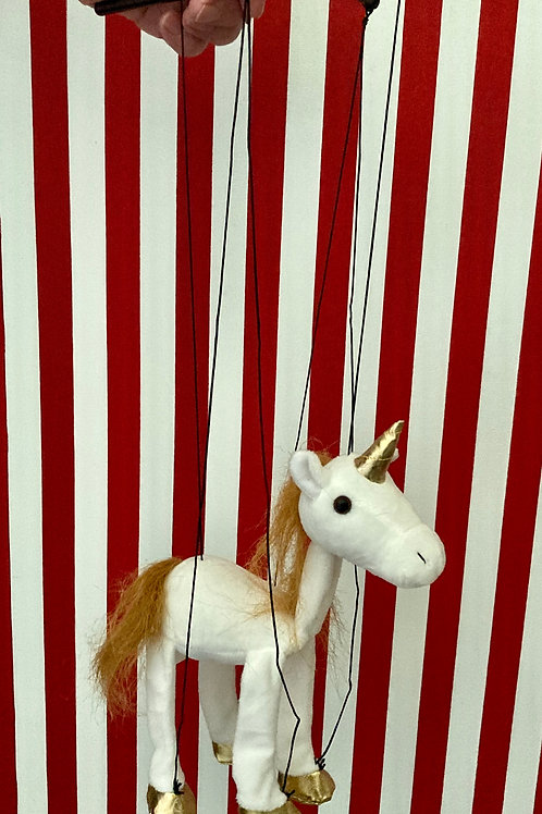 Unicorn - Marionette Puppet (small) by Sonny Toys