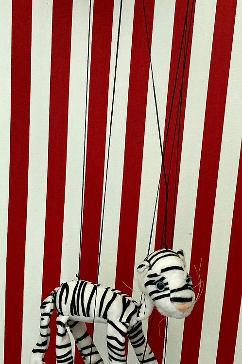 White Tiger - Marionette Puppet (small) by Sonny Toys
