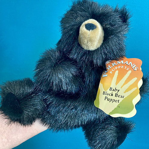 Baby Black Bear Hand Puppet (Folkmanis)