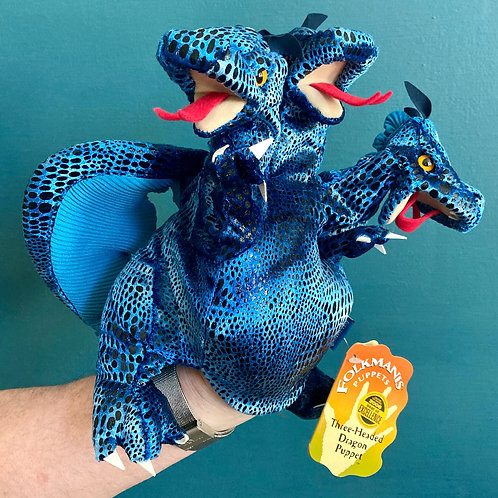 Three-Headed Dragon Hand Puppet (Folkmanis)