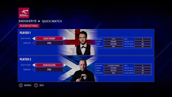 Snooker 19 - FAQ multiplayer 2 controlle