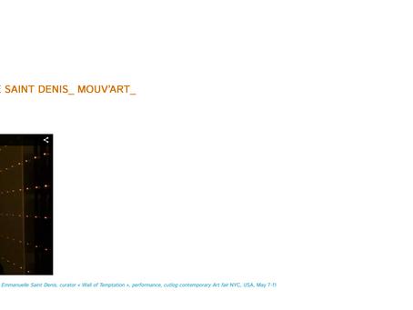"Participation in the ""Confluences résonants"" project, by Palimpseste, May 6"
