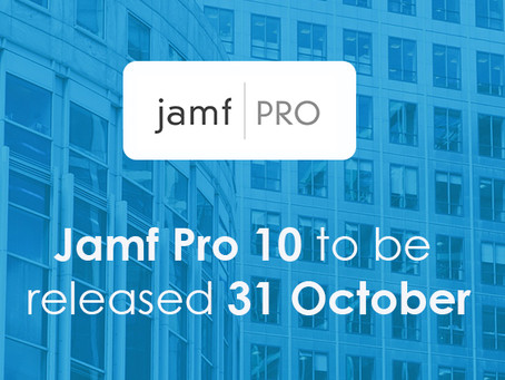 Jamf Pro 10 to be released Tuesday 31 October 2017