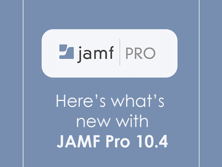 Here's what's new with Jamf Pro 10.4