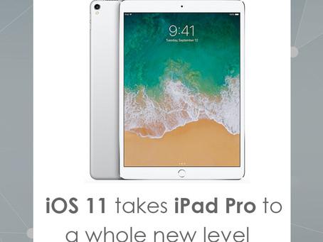 iOS11 takes iPad Pro toa whole new level