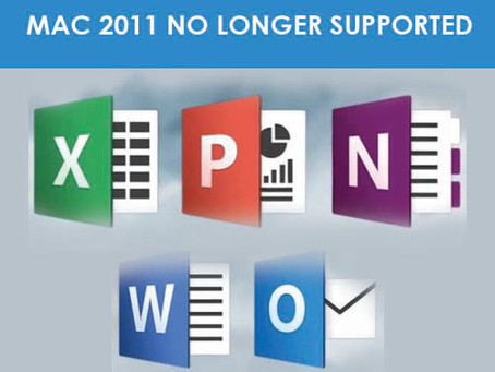 Microsoft has officially ended Office support for Mac 2011