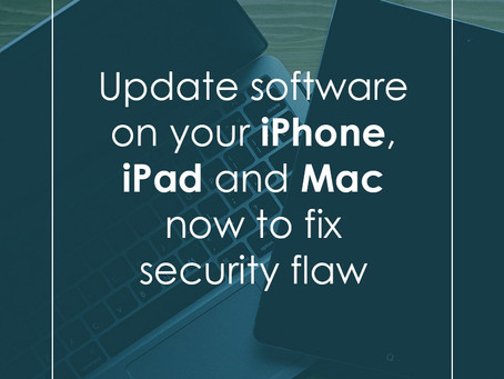 Apple release update to fix chip security flaw