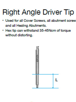 Right Angle Driver - tip
