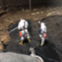 Confined space entry, tank cleaning works