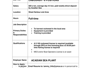 Acadian Sea Plant - Labourer