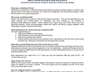 Halifax Regional School Board - EPA Recruitment