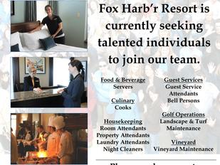 Fox Harb'r Resort - Hospitality Recruitment