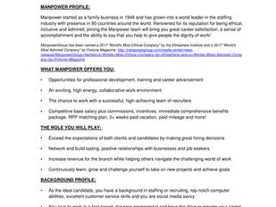 Manpower - Talent Placement Specialist