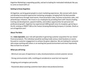 Kognative Marketing - Sales Specialist