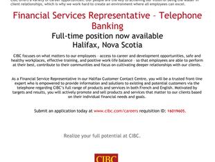 CIBC Financial Services Rep - Telephone Banking
