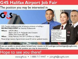 G4S Halifax Airport Job Fair