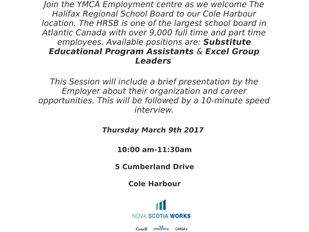 Halifax Regional School Board - Substitute EPA and Excel Group Leaders Info and Recruitment Session