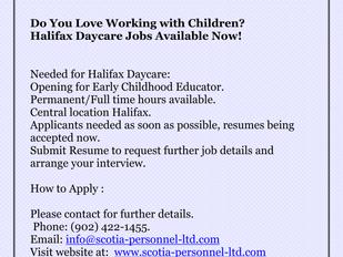 Halifax Daycare Jobs - Early Childhood Educator