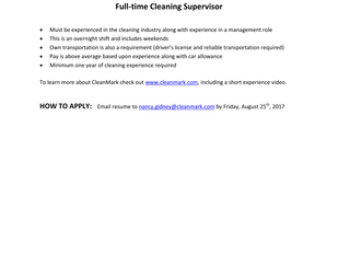 CleanMark - Cleaning Supervisor