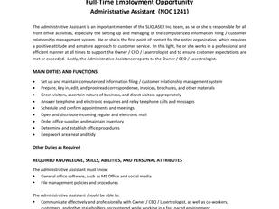 SLICLASER Inc. - Administrative Assistant