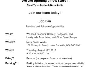 Giant Tiger Bedford Job Fair