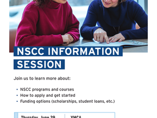 NSCC Information Session @ Halifax YMCA - June 29, 9:30 - 12:00