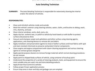 House of Auto Detail - Auto Detailing Technician