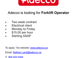 Adecco - Forklift Operator