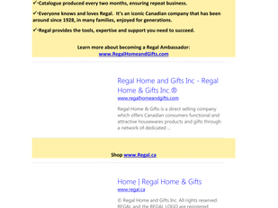 Regal Home and Gifts - Sales