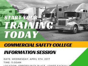 Commercial Safety College Information Session - April 5th, 2017 - 11:00AM - RSVP Required