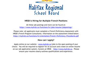 HRSB - Various Positions (French)