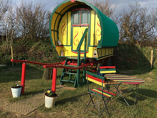 bow top gypsy caravan holdays in devon & cornwall