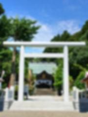 天津神明宮社正面