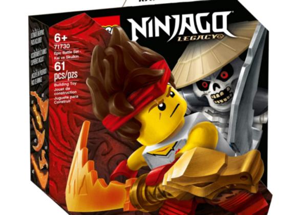 Lego לגו 71730 Epic Battle Set - Kai vs. Skulkin