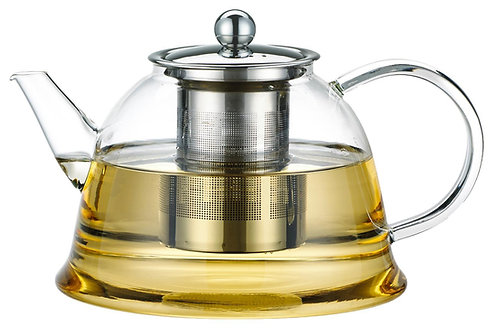קנקן זכוכית מפואר לתה וחליטות