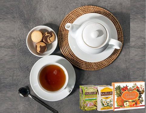 מארז התה המושלם! 110 שקיות תה עשירות ומגוונות מבית BASILUR