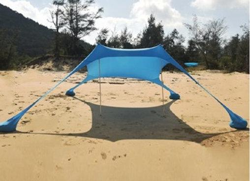 צילייה ענקית לכל המשפחה לחוף בגודל 3.00 מטר / 3.00 מטר