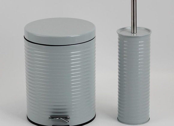 סט פח אשפה 5 ליטר ומברשת לשירותים