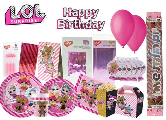 מארז יום הולדת LOL – ל12 חוגגים