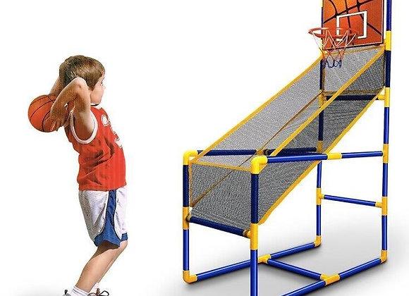 מתקן כדורסל ביתי כולל כדור ומשאבה