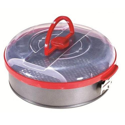 """תבנית קפיצית לעוגה עם מכסה-קוטר 26 ס""""מ"""