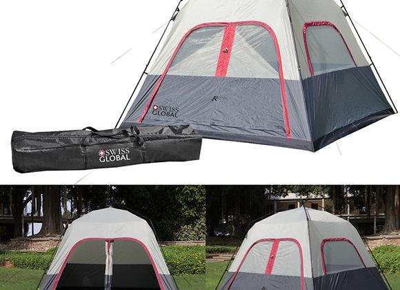 אוהל משפחתי ענק רחב עד 8 אנשים עם מנגנון פתיחה מהירה מבית SWISS GLOBAL