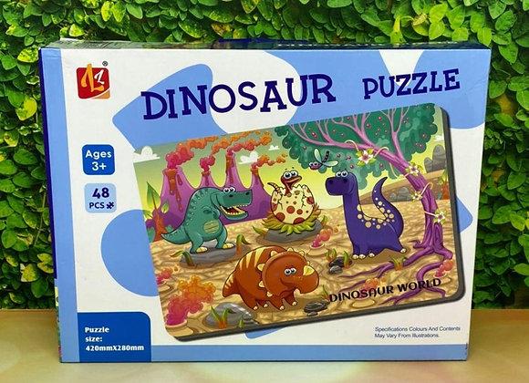 פאזל 48 חלקים- דינוזאורים