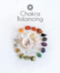 Chakra Balancing. Set gemstones crystal