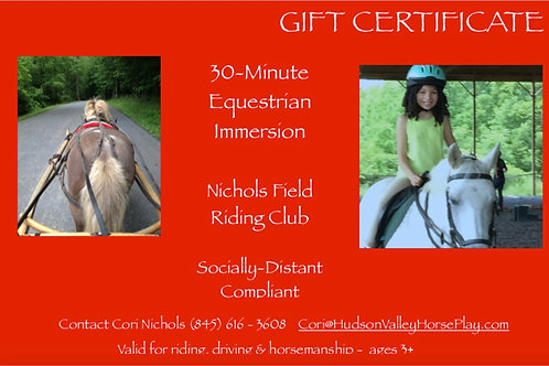 Gift Card: Riding/Driving Lesson