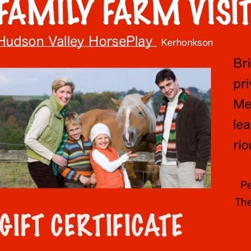 GIFT CARD: Family Farm Visit